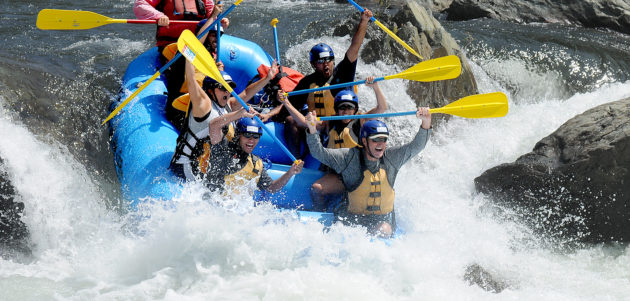 class 4 white water rafting middle fork american river california